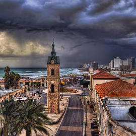 the Jaffa old clock tower
