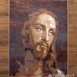 Persian Art - The Jesus Christ Marquetry wood work