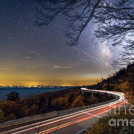 Robert Loe - The Linn Cove Viaduct Milky Way Light Trails