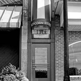 The Little Popcorn Shop In Wheaton Black And White by Christopher Arndt