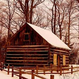 The Log Cabin at Old Mission Point by Daniel Thompson