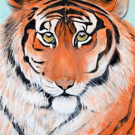 The Look of Power. Portrait of Tiger by Oksana Semenchenko