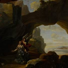 Johannes Lingelbach - The Magdalen In A Cave