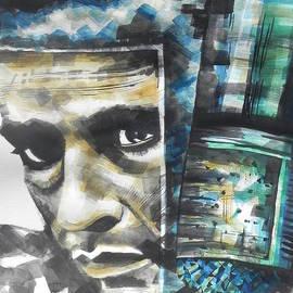 The Man In Black  Singer Johnny Cash by Chrisann Ellis