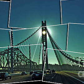 The Old and New spans of the Oakland Bay Bridge  by Jim Fitzpatrick