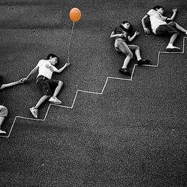 The Orange Balloon by Nicolino Sapio