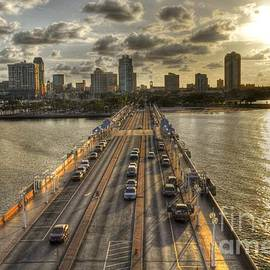 The Pier in Saint Petersburg Florida by Timothy Lowry