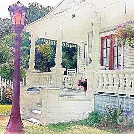 The Porch Lamp Post and The Gate by Becky Lupe