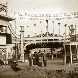 The Racing Thru The Clouds in Venice California Circa 1912 by California Views Archives Mr Pat Hathaway Archives
