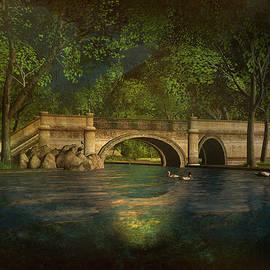 Kylie Sabra - The Rose Pond Bridge 06301302 - by Kylie Sabra