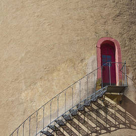 The Staircase to the Red Door by Heiko Koehrer-Wagner