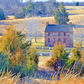 The Stone House / Manassas National Battlefield Park In Winter by Digital Photographic Arts