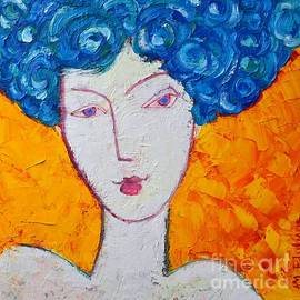 The Strength Of Grace Expressionist Girl Portrait by Ana Maria Edulescu