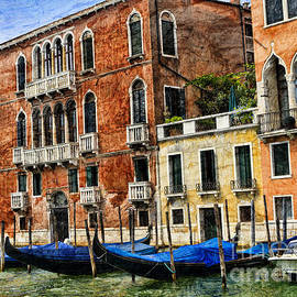 The Texture Of Venice Is In Its Palaces  by Brenda Kean