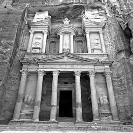 The Treasury at Petra by Stephen Stookey