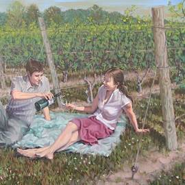 The Vineyard Picnic by Gary M Long