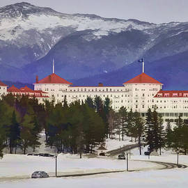 The White Mountain Resort Watercolor by Laura Duhaime