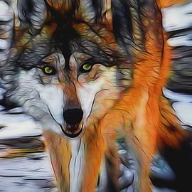 Ernie Echols - The Wolf 2 Digital Art