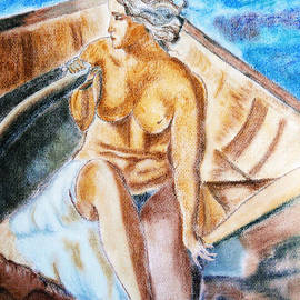 The woman rower by Jasna Dragun
