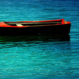 LITTLE RED BOAT of TRANQUILITY by Karen Wiles