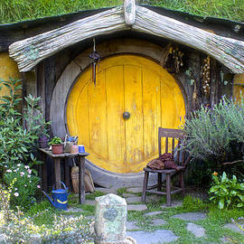 Yellow Hobbit Door by Venetia Featherstone-Witty