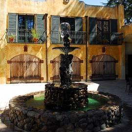 Three Doors And A Fountain by Mel Steinhauer
