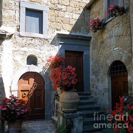 Three Doors in Bagnoregio by Barbie Corbett-Newmin