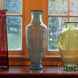 Karen Adams - Three Glass Vases in a Window