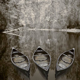 Three Old Canoes by Debra and Dave Vanderlaan