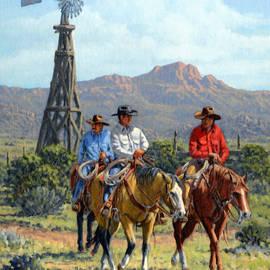 Three Riders by Randy Follis