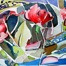 Mindy Newman - Three Roses Abstract