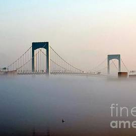 Throggs Neck Bridge In The Fog by Dale   Ford