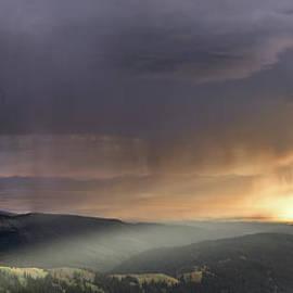 Leland D Howard - Thunder Shower and Lightning over Teton Valley