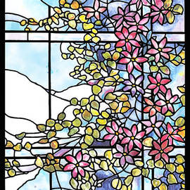 Donna Walsh - Stained Glass Tiffany Floral Skylight - Fenway Gate