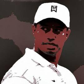Tiger Woods Poster Art by Florian Rodarte