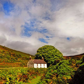 Time Goes By so Slowly. White Abandoned House in Wicklow by Jenny Rainbow
