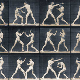 Time Lapse Motion Study Men Boxing by Tony Rubino