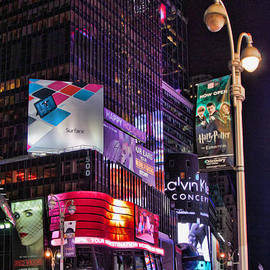 Times Square Lights by Lindley Johnson