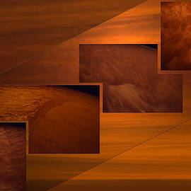 Thomas Woolworth - Toffee Abstract Sand Storm Step Collage