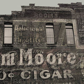 Tom Moore Ten Cent Cigar Black And White by Anne Cameron Cutri