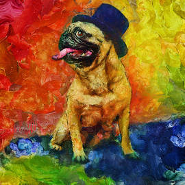 Top Hat Pug by Christopher Lane