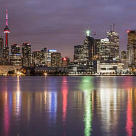 Toronto Skyline At Sunset  by John McGraw