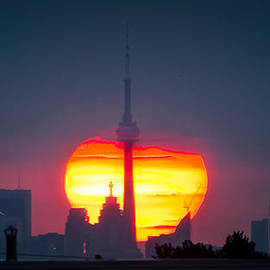 Kerry-Ann Lecky Hepburn - Toronto Sunrise and the CN Tower