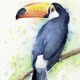 Toucan Watercolor by Olga Shvartsur