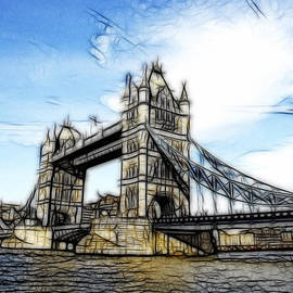 Georgeta Blanaru - Tower Bridge London digital painting
