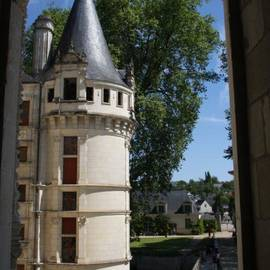 Tower Chateau Azay-le-Rideau by Christiane Schulze Art And Photography