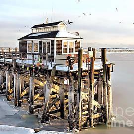 Janice Drew - Town Pier Frozen