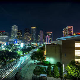 Toyota Center and Downtown Houston by David Morefield