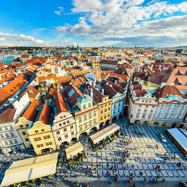 Michael Abid - Traditional house roofs in Prague
