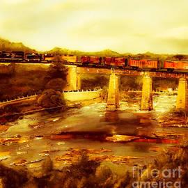Train Over Chattachoochee - Columbus by Jan Dappen